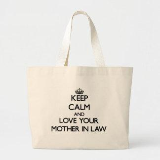 Keep Calm and Love your Mother-in-Law Tote Bag