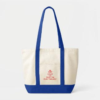 Keep Calm and Trust the Music Therapist Tote Bag