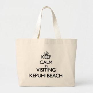 Keep calm by visiting Kepuhi Beach Hawaii Bag