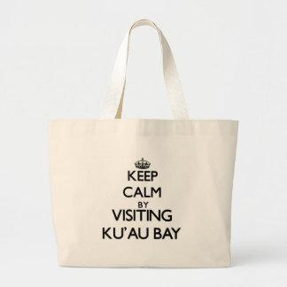 Keep calm by visiting Ku'Au Bay Hawaii Canvas Bag
