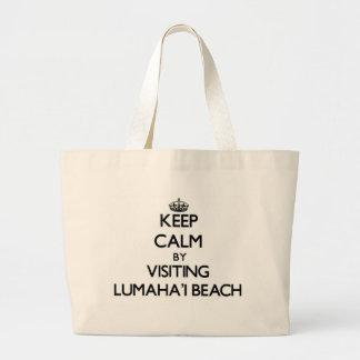 Keep calm by visiting Lumaha'I Beach Hawaii Tote Bag