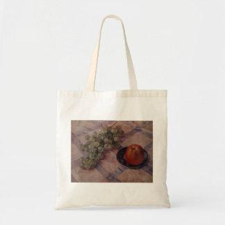 Kuzma Petrov-Vodkin- Grapes and apples Canvas Bag
