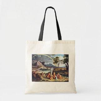 Landscape With The Peace Offerings Of Noah By Koc Tote Bag