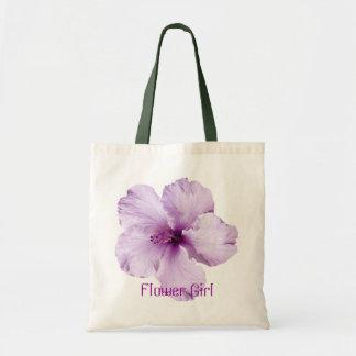 Lavender Hibiscus Flower Girl Tote Bag