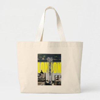 London River Thames Tote Bags