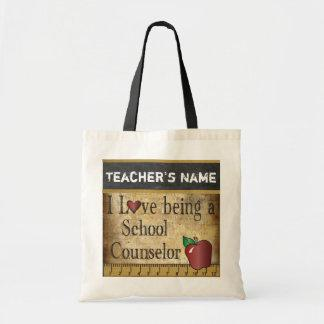 Love Being a School Counselor   Vintage Style Budget Tote Bag