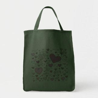 Lovely Light Pink & Purple Heart Doodles Tote Bags