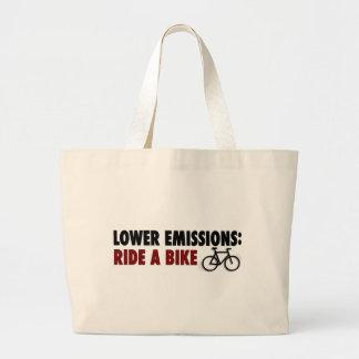 Lower Emissions Ride A Bike Tote Bags