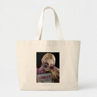 Luna Lovegood Peeks Over Glasses Canvas Bag