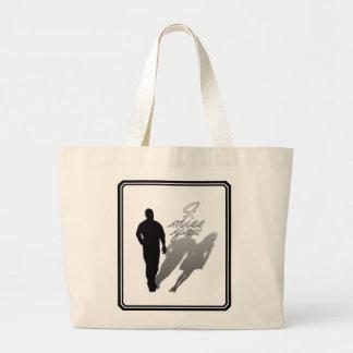 Man Missing Woman Silhouette Canvas Bags