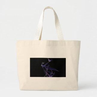 Midnight Madness Dancing Fractal Canvas Bag