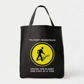 Militant Pedestrian Shopping Bag