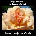 Mother of the Bride! tote bag gifts Peach Rose art