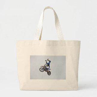 Motocross Flying High Tote Bags