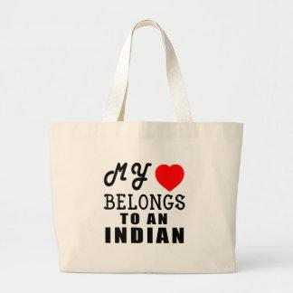 My Heart Belongs To An Indian Tote Bags