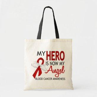 My Hero Is My Angel Blood Cancer Tote Bags