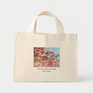 Not all who wander are lost! Floral Dogwood Trees Bag