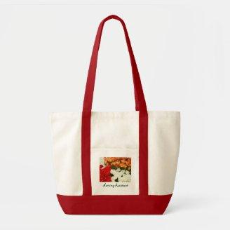 Nursing Assistant Tote Bags Tulips CNA Totes