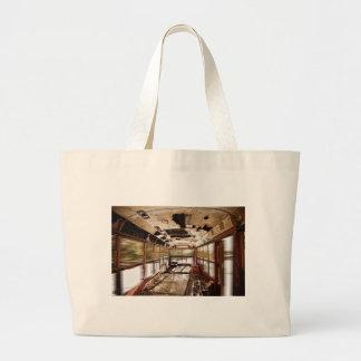 Old Rusty School Bus In Motion HDR Tote Bags