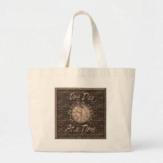 One Day at a Time Canvas Bags