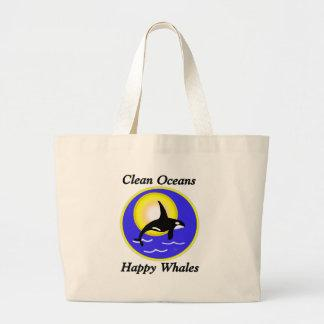 Orca Whale Clean Oceans Happy Whales Bag