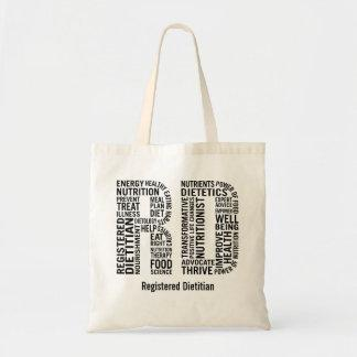 Personalize Name Registered Dietitian RT Tote Bag