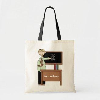 Personalized Teacher Gift Tote Bags