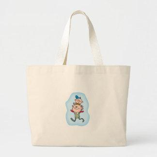 Piggyback With Dad Canvas Bags