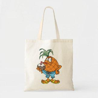Pineapple Drinking Coconut Milk Tote Bag
