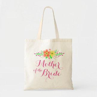 Pink Flowers Mother of the Bride Tote Bag