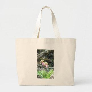 Pink Lady slipper orchid Bag