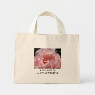 PINK ROSE for my SWEET DAUGHTER Gift Tote Bag
