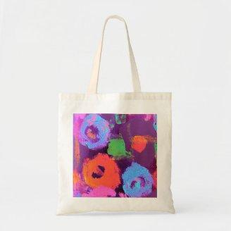 Pop Flowers lavender Bag