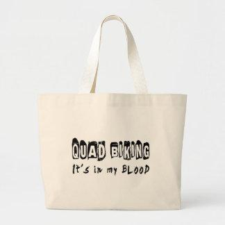 Quad Biking It's in my blood Canvas Bags