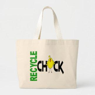 Recycle Chick 1 Tote Bags