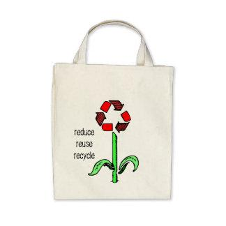Recycle Flower Organic Tote Tote Bags
