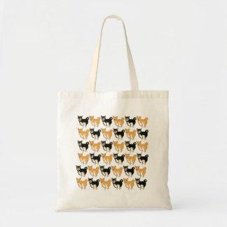 Red and Black & Tan Shiba Inu Tote Bag