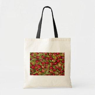 Red apples on cupressus leaves Photo Tote Bag