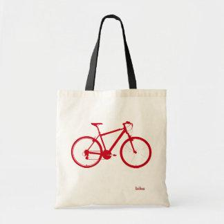 red bike, cycling bags