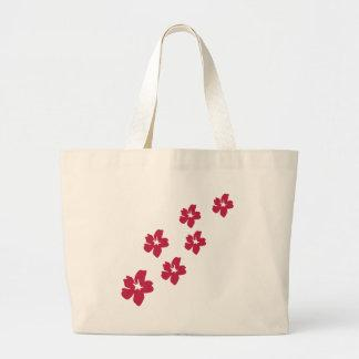 red flower rain icon tote bags