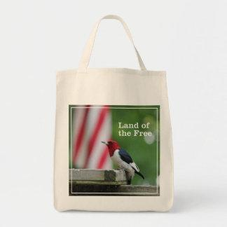 Red-headed Woodpecker Tote Bags