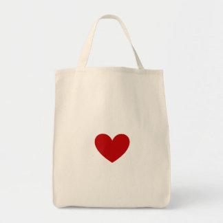 Red Heart Canvas Bags