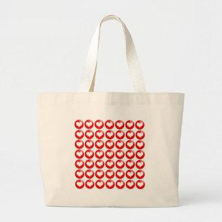 Red Heart Pattern  Canvas Bag