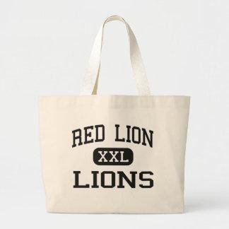 Red Lion - Lions - Area - Red Lion Pennsylvania Tote Bag
