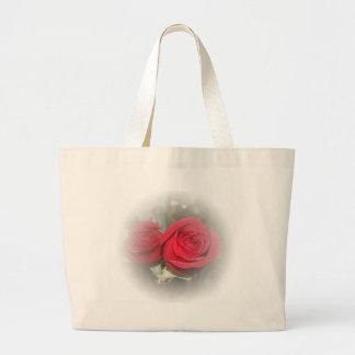 Romantic Soft Red Roses Tote Bags