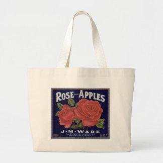 Rose Brand Apples Tote Bag
