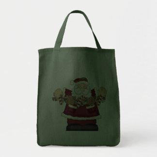 Santa & Candy Garland Tote Bag