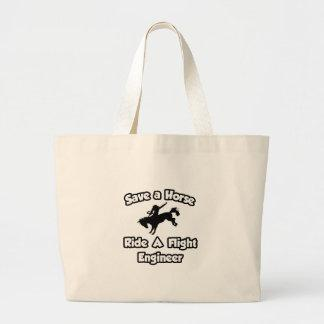 Save a Horse, Ride a Flight Engineer Canvas Bag