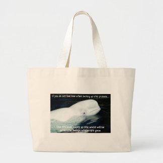SAVE THE BELUGA WHALES CANVAS BAG