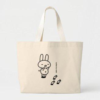 Sewing involving the rabbit/runrun feeling canvas bags